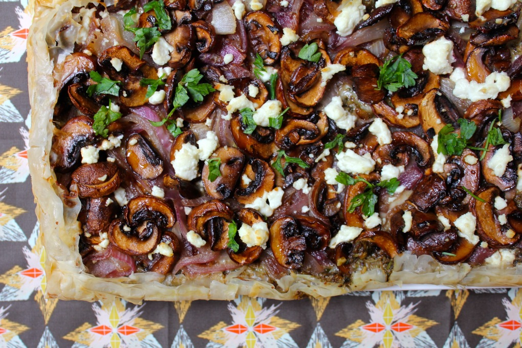 The Kitchen Beet - Balsamic Mushroom Tart