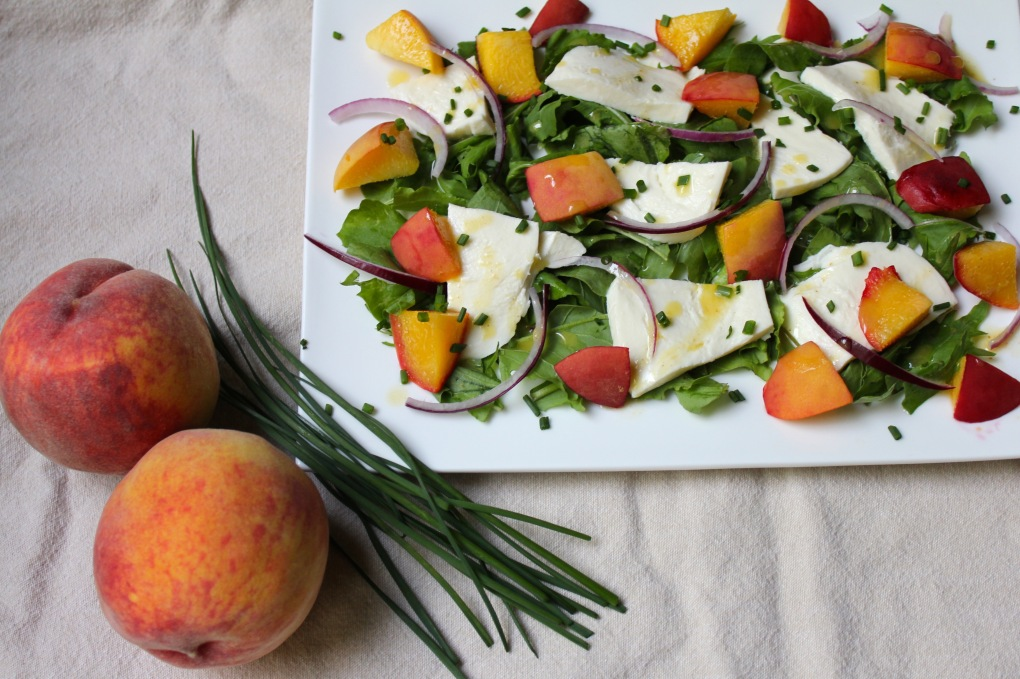 The Kitchen Beet - Peach, Mozzarella, Chive Salad