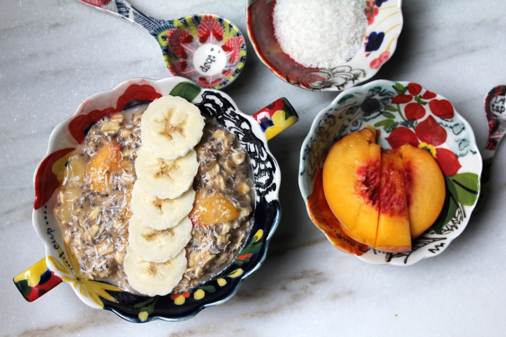 TKB - Peach Coconut Overnight Oats