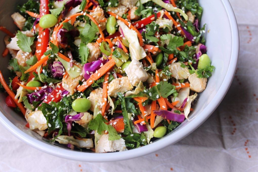 TKB - Crunchy Rainbow Salad with Sesame-Honey-Ginger Chicken